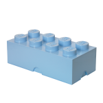 LEGO Förvaringslåda 8 Knoppar, Light Royal Blue