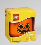 LEGO Iconic Storage Head Large, Pumpkin