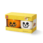 LEGO Iconic Storage Head Large, Pumpkin and Skeleton