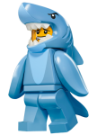 LEGO Minifigur 71011 serie 15 Shark Suit Guy