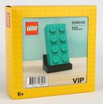 LEGO 6346102 Buildable 2x4 Teal Brick 2020