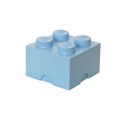 LEGO Förvaringslåda 4 Knoppar, light royal blue