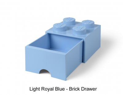 LEGO Förvaringsbyrå 4 Knoppar, Light Royal Blue