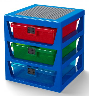 LEGO 3-Drawer Rack, blå