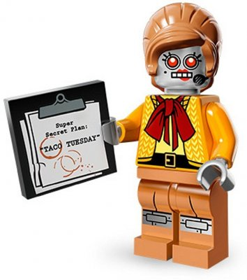 LEGO Movie Minifigur Velma Staplebot