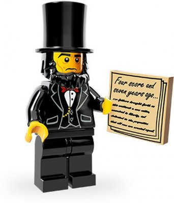 LEGO Movie Minifigur Abraham Lincoln