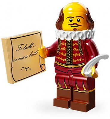LEGO Movie Minifigur William Shakespear