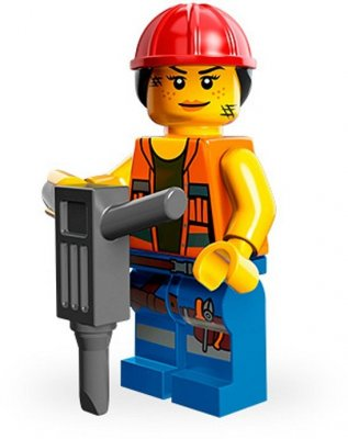 LEGO Movie Minifigur Gail the construction worker