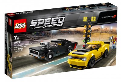 LEGO® Speed Champions 75893 2018 Dodge Challenger SRT Demon och 1970 Dodge Charger R/T